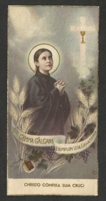 St Gemma Galgani with Holy Communion