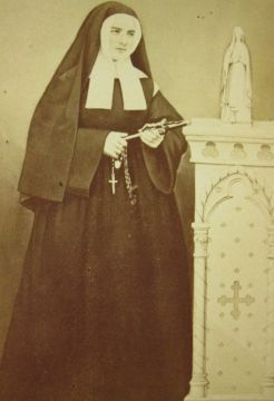 St. Bernadette Soubirous ( 1844 -1879 ) taken by the Provost Photographic Studio in the late 1800's.