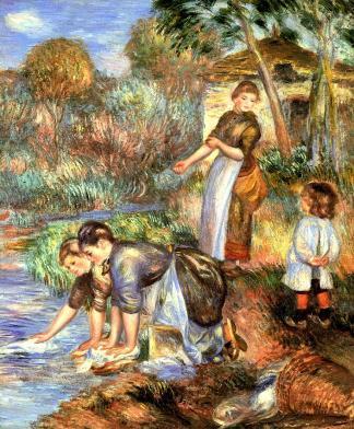 The Washerwoman by Pierre Auguste Renoir