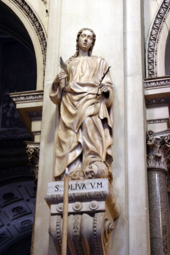 Statue of Olivia in the Cathedral of Palermo
