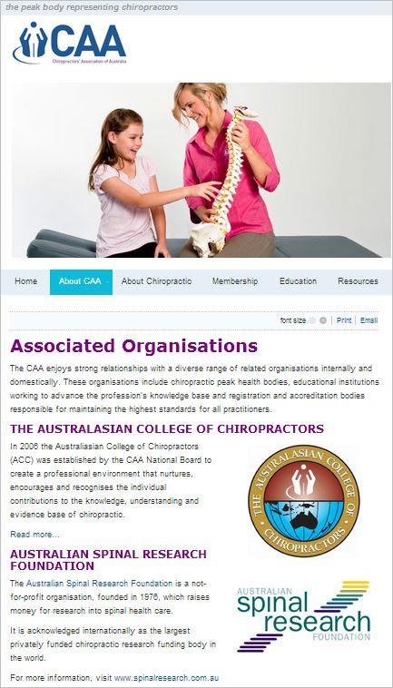 CAA ASRF Associated Organisation