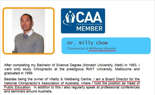 Chow 1 board member of CAA National