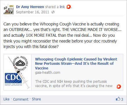 Herreen 5 WC vaccine made disease 10 times worse lie