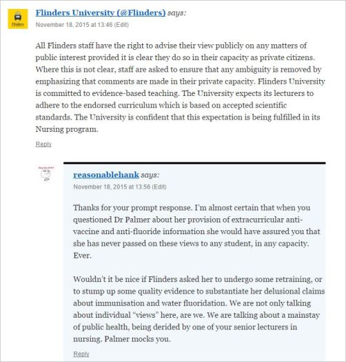 Flinders 2 comment on RH and reply