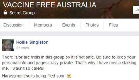 Singleton 5 VFA media stalking harassment