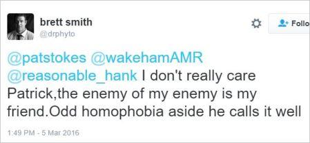 Brett Smith 238 Bolen homophobia tweet