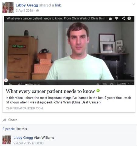 Gregg 25 profile cancer cure crank April 2 2015