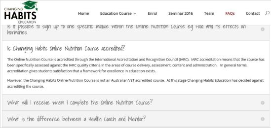 O'Meara 57 website course not Australian VET accredited