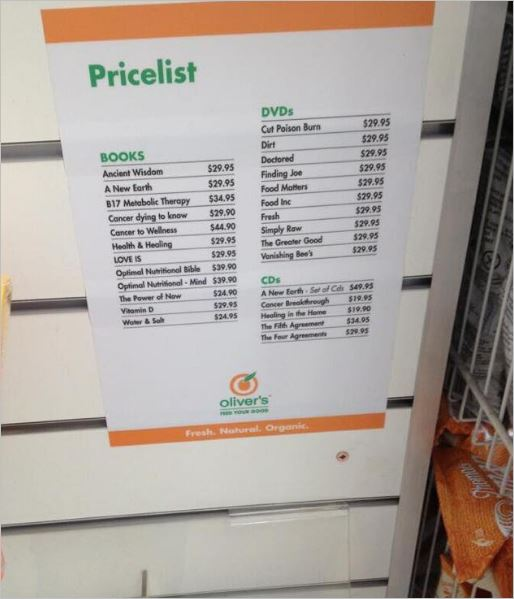 Olivers 22 2013 DVDs books price list