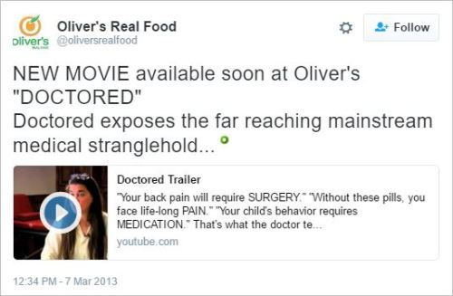Olivers 27 Doctored tweet