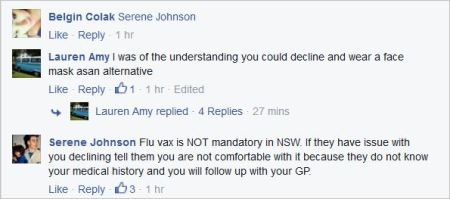Serene Johnson 139 NSW Health fluvax