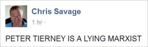 Savage 66 Peter Tierney lying marxist