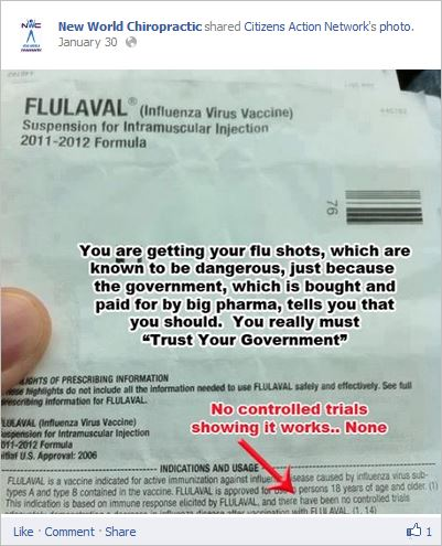 Does someone want to remind these people that influenza vaccines are not trialed every year, as they have been trialed in previous years?