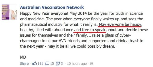AVN 6688 Dorey HNY 2014 free to speak out