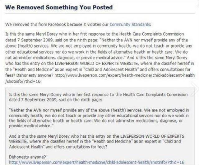 AVN 6691 Dorey banned comment September 2013