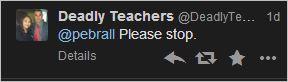 Ebrall 12 Deadly Teachers stop