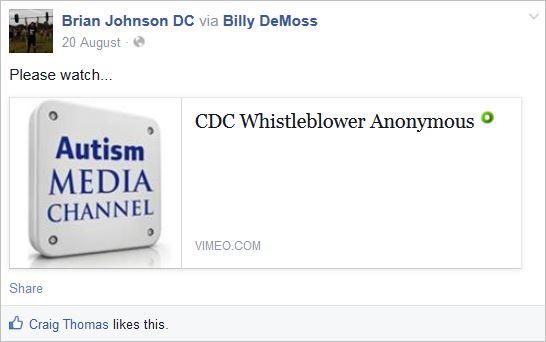 Johnson 22 whisteblower video Wakefield via DeMoss