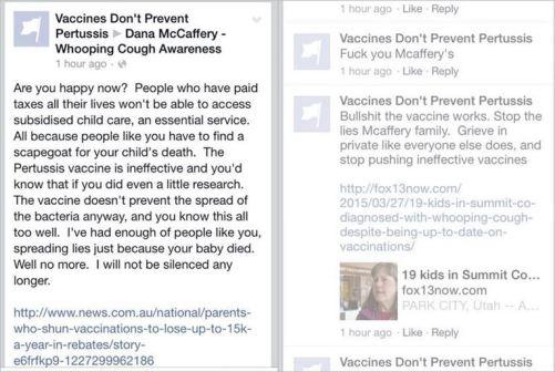 AVN 6937 McCafferys Dana's page troll comments
