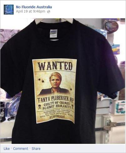 NFA 13 Plibersek wanted shirt
