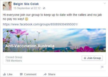 Belgin 72 antivax australia share in Sydney protest2