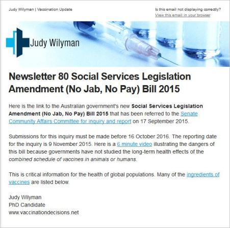 Wilyman 136 Newsletter 180 from website link