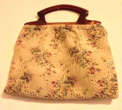 cloth purse or sewing bag from 1940s