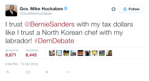 mike huckabee tweet
