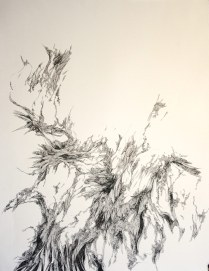 ossify indian ink on arches paper 95cm x 75cm $2250 framed