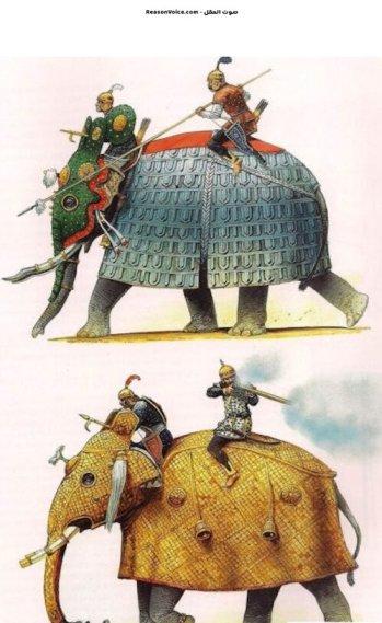 رسمة اخرى للغزاة في الفيلة في الهند