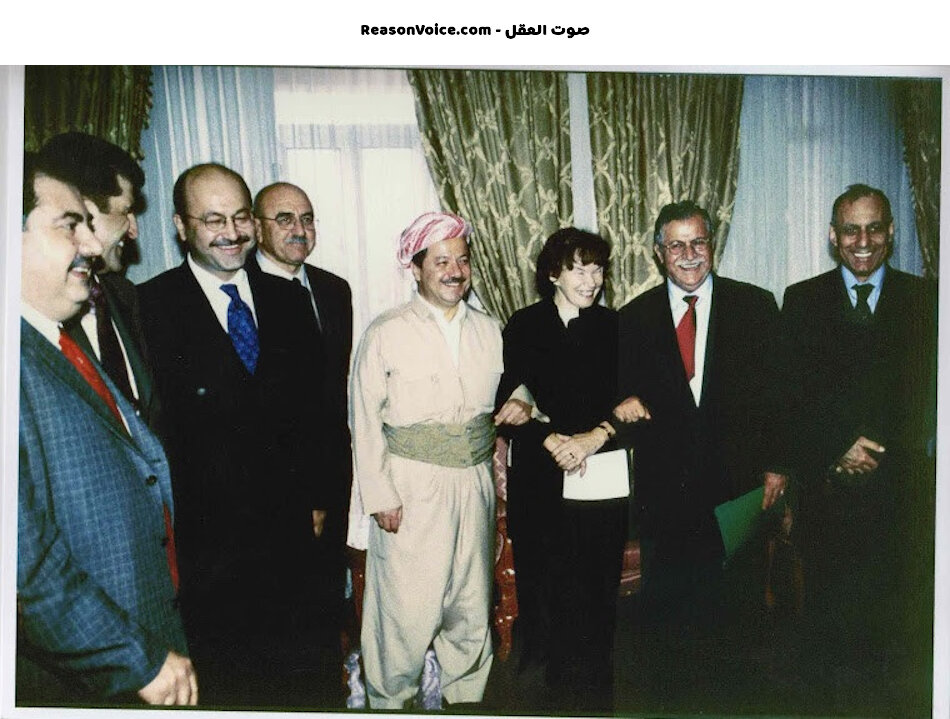 الاحزاب الكردية مع الامريكان