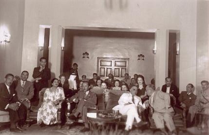 ام كلثوم مع نوري السعيد و عبد الاله