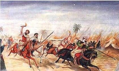 رسم تعبيري عن غزو البدو للحضارات المجاورة