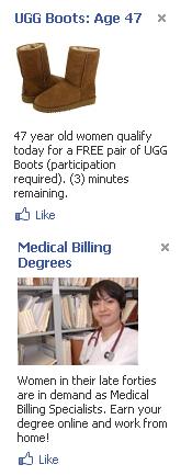 Spammy Facebook Ads