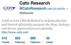 cro clinical trials twitter