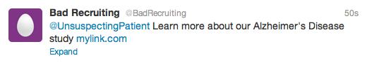 bad patient recruitment
