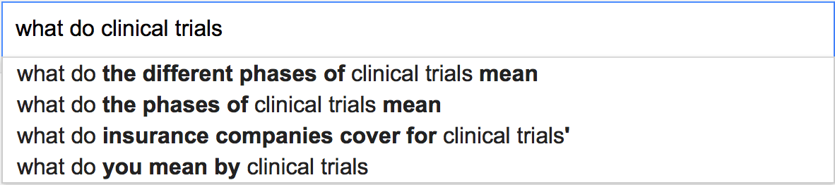 What do clinical trials...