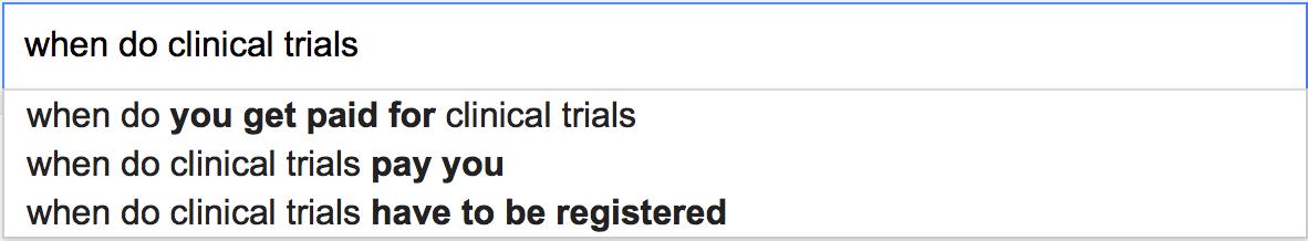 When do clinical trials...