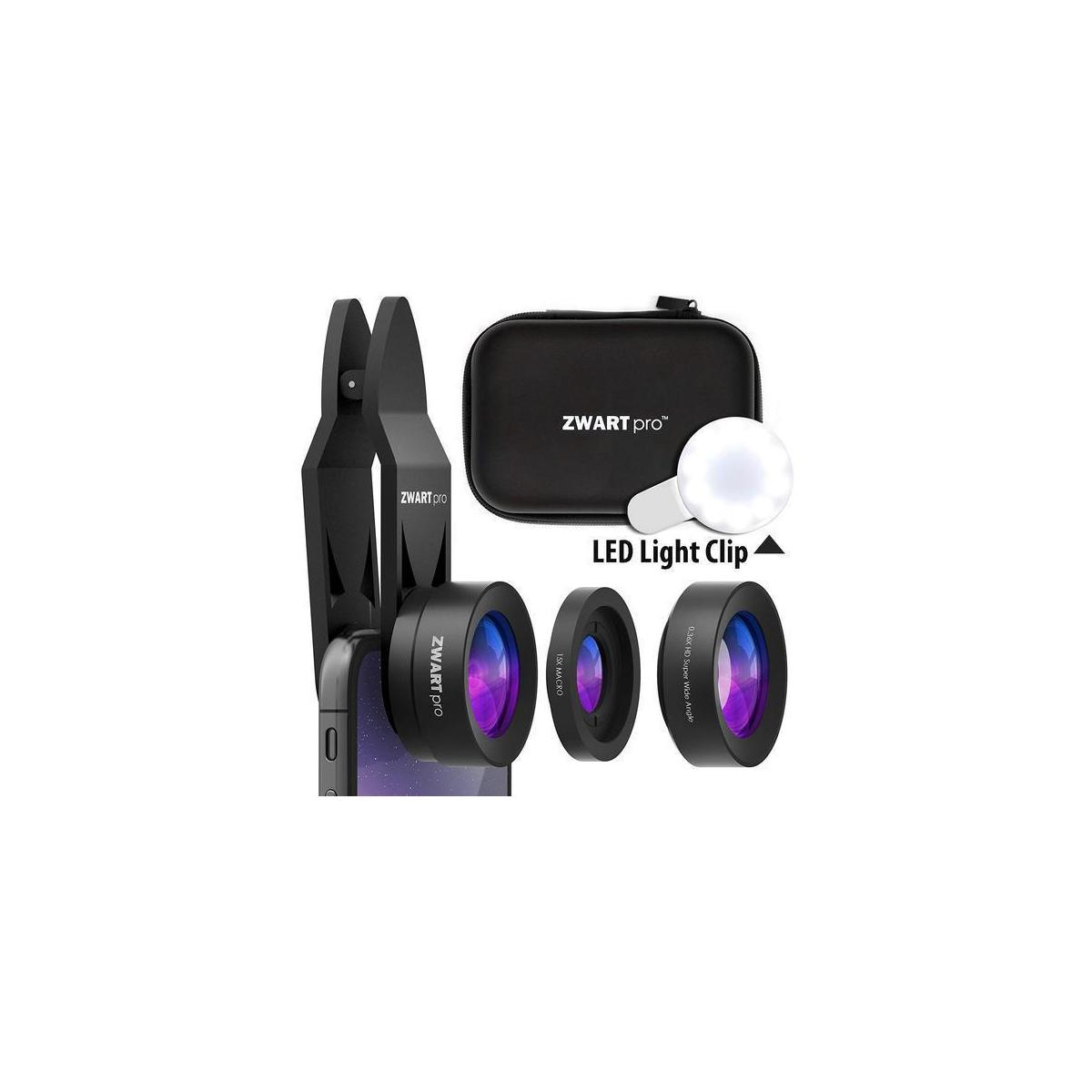 Phone Camera Lens Attachments   ZWARTpro Super Wide Angle + Macro 2 In 1 Cell Phone Lens Kit For IPhone. IPad. Most Android Smartphones & Tablets ...