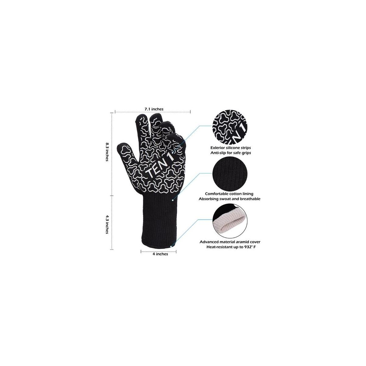 Bbq Gloves 932f Extreme Heat Resistant Grill Gloves For