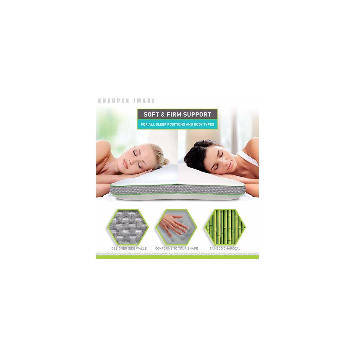 sharper image select a side molded memory foam pillow