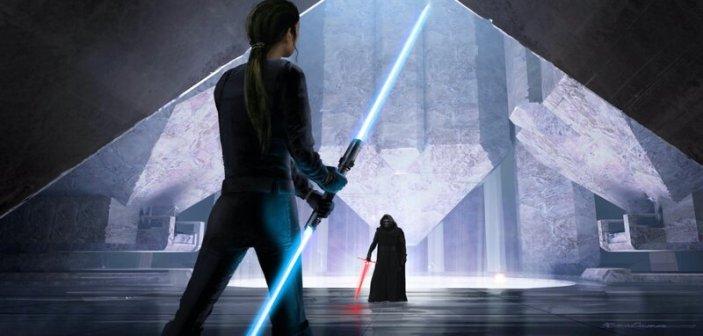 Rey i Kylo mierzą się na szczycie świątyni Mortis