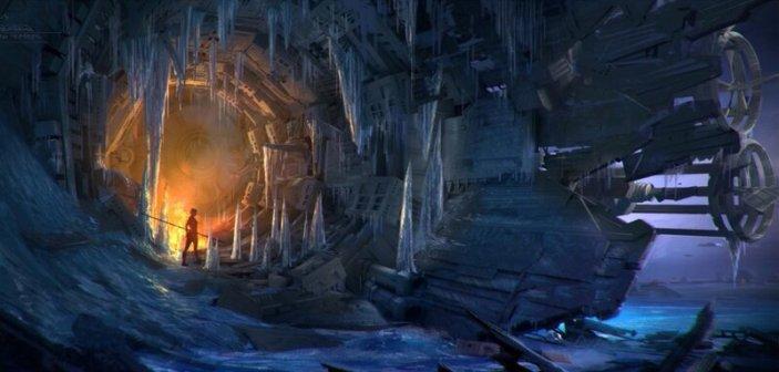 Mając rycerzy Ren na ogonie, Poe skacze Sokołem w nadświetlną i rozbija go na lodowej planecie Wavett
