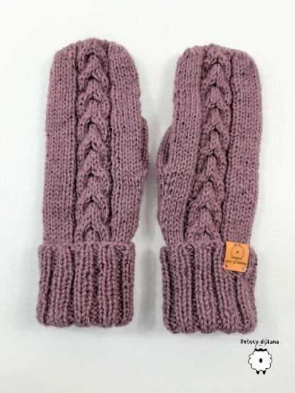 rękawiczki na drutach
