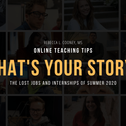 Online Teaching Tips - What's Your Story