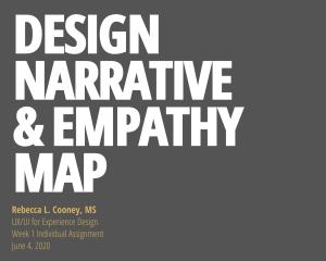 Design narrative and empathy map