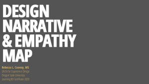 Design narrative and empathy map