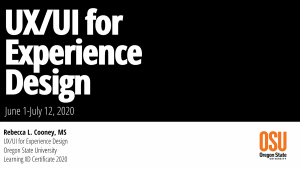 UX UI for Experience Design
