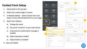 Weebly Contact Form Setup