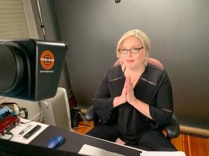 Rebecca Cooney in studio