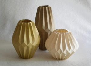 Corrugated vases